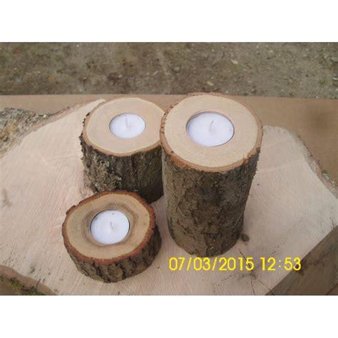 deko holz kerzenständer teelichthalter aus ast baum holz deko 3erset