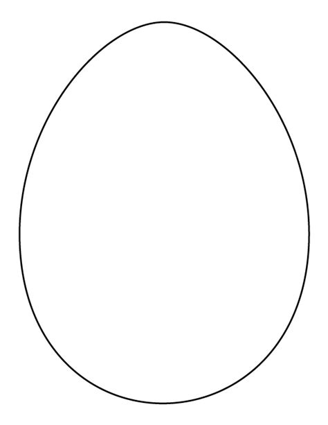 egg pattern drawing printable full page large egg pattern use the pattern for