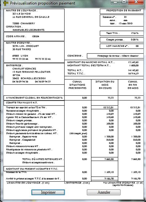 modele facture retenue de garantie document