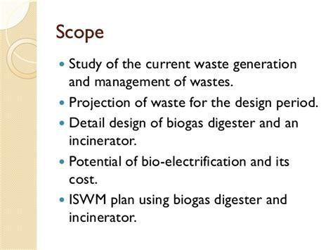 design criteria for incineration final year project presentation 2012