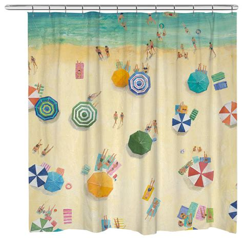 shower curtain fun summer fun shower curtain beach style shower curtains