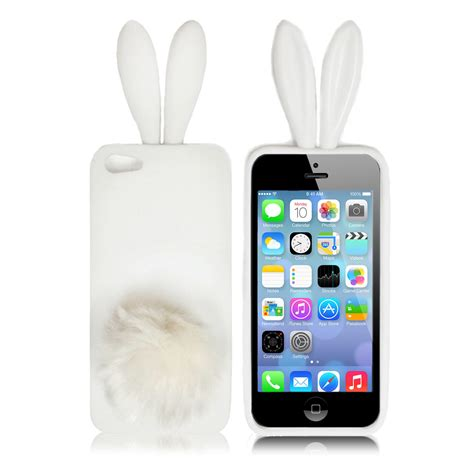 bunny rabbit soft cover skin for iphone 5 5g