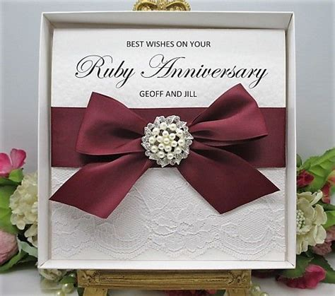 Wedding Anniversary Years Uk by 1000 Ideas About Ruby Wedding Anniversary Gifts On