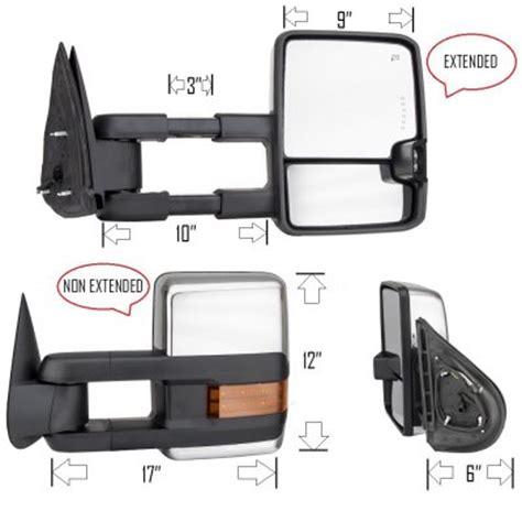 tow mirrors gmc 2500hd gmc 2500hd 2007 2014 chrome towing mirrors led drl
