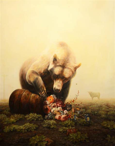 surreal animal paintings  martin wittfooth designwrld