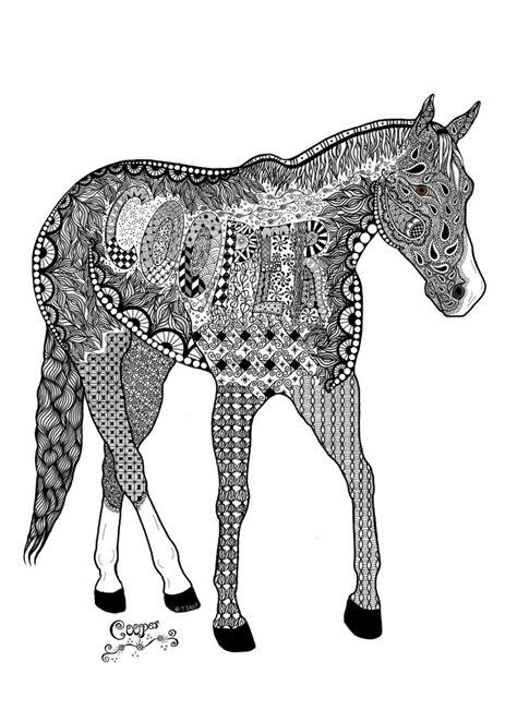 zentangle pattern horse zentangle of a horse cooper art pinterest horses
