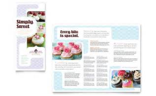 bakery brochure template bakery cupcake shop tri fold brochure template word