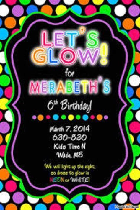 neon party invitations templates  mason birthday
