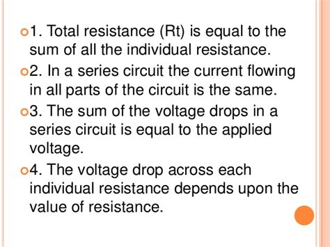voltage drop across resistor in series voltage drop across each resistor in parallel 28 images electrical circuits electronics ppt