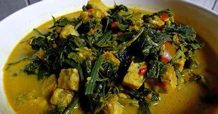 resep sayur pucuk daun labu siam kuah santan kuning