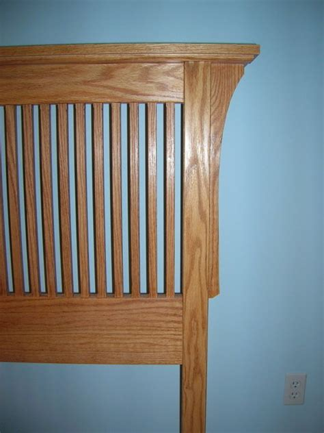 mission style headboard queen plans plans diy