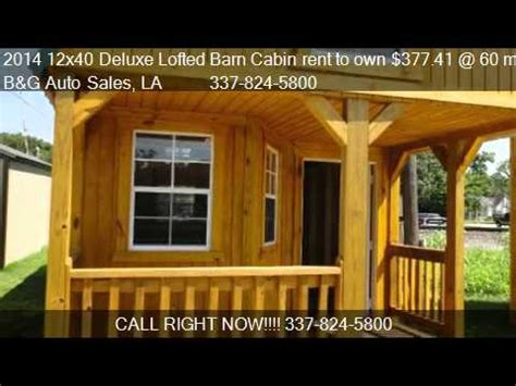 14x40 Cabin Floor Plans by 2014 12x40 Deluxe Lofted Barn Cabin Rent To Own 377 41