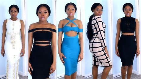 aliexpress fashion aliexpress bandage dresses tryon clothing haul spring