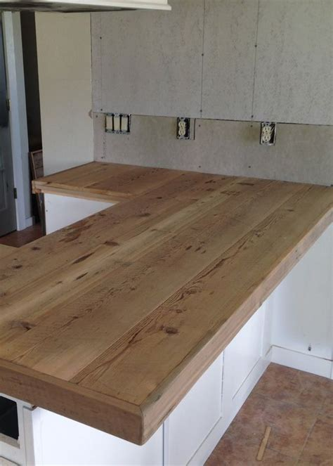 Building Kitchen Countertops by Diy Reclaimed Wood Countertop Wood Countertops Boat