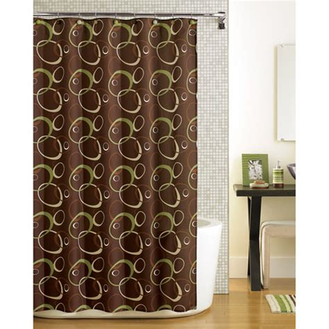 wal mart shower curtains mainstays elipse fabric shower curtain walmart com