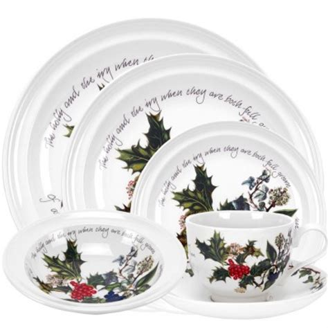 havens portmeirion holly and ivy 24 piece dinner service