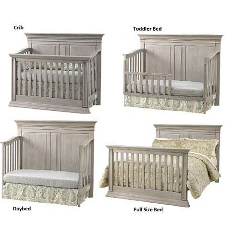 Baby Cache Vienna 4 In 1 Convertible Crib Ash Gray Gray Convertible Crib