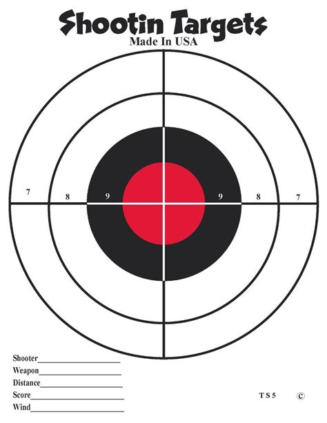 printable paper handgun targets 150 black and red bullseye hand gun and pistol shooting