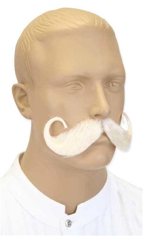 handlebar mustache white