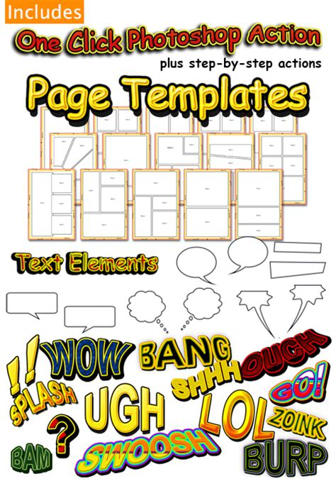 14 comic book template psd images comic book layout