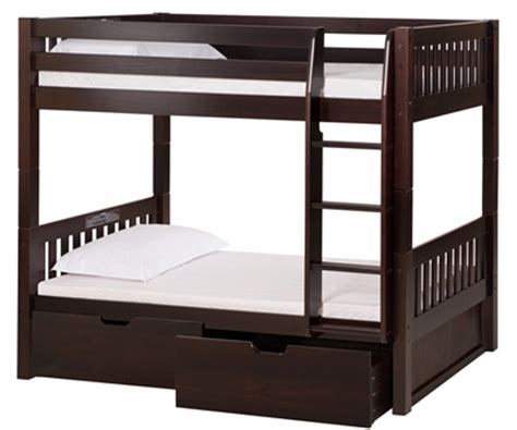 High Bed With Drawers by High Bunk Bed With Conversion Kit Drawers Mission Style