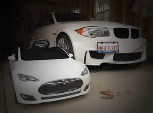 Electric Cars Bmw Vs Tesla Review Tesla Radio Flyer Vs The Bmw M4 Electric Ride On