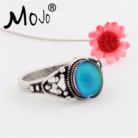Murah Oval Ring Antique Mood Ring High Quality Ring factory wholesale antique sterling silver plated high