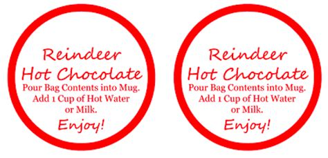 free printable reindeer hot chocolate reindeer hot chocolate gifts super easy to make