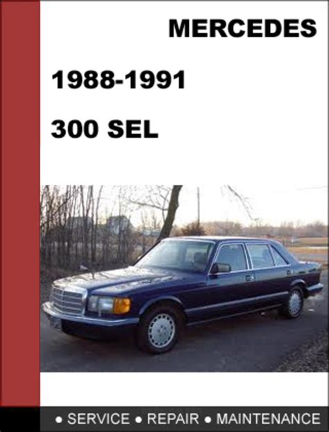 mercedes benz 300sel w126 1988 1991 factory workshop service manual