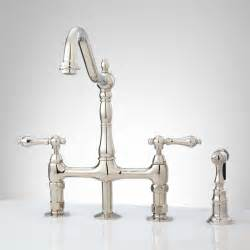 bellevue bridge kitchen faucet with brass sprayer lever