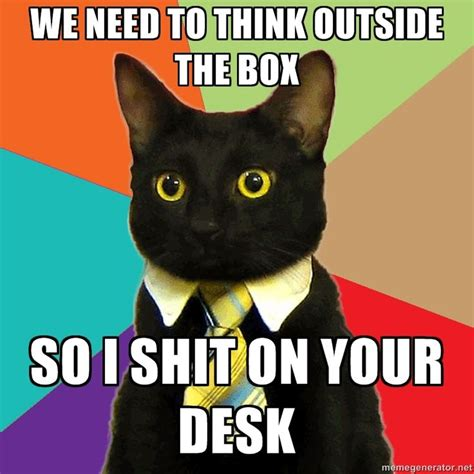 business cat via meme generator too funny pinterest
