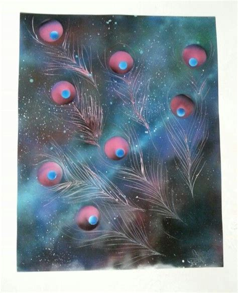 spray paint universe universe cosmic peacock spray paint by nate bockus