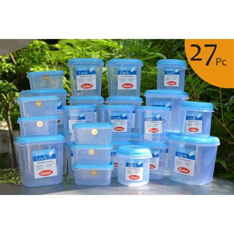 Buy Chetan Set Of 27 Pcs Plastic Airtight Kitchen Storage Cooking Container Kitchen Supplies