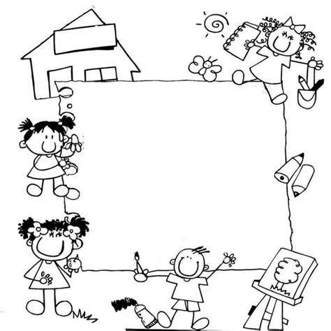 imagenes de utiles escolares a blanco y negro bordes escolares en blanco y negro buscar con google clase
