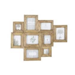 cadre photo multivues en manguier effet vieilli 69 x 84 cm