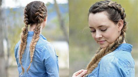 how to dutch fishtail braid elsa hair youtube beautiful double dutch fishtails diy hair tutorials