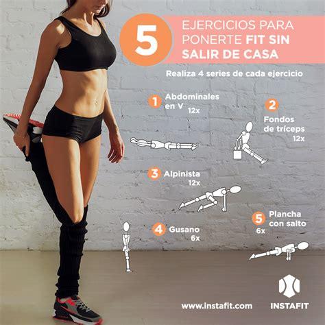 ejercicios abdominales en casa rutina para hacer en casa workout ejercicio pinterest