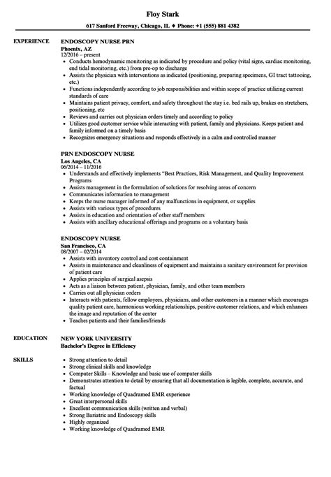 Endoscopy Resume Objective delighted or circulating resume ideas exle