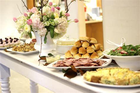christening buffet menus ideas