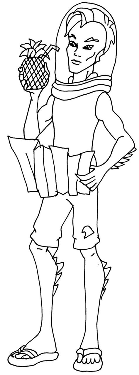 monster high coloring pages gil monster high gil free coloring pages