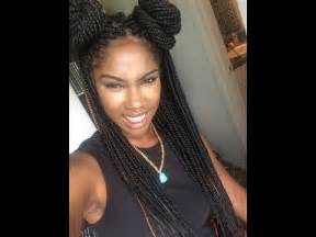 styling two year hair styling box braids youtube