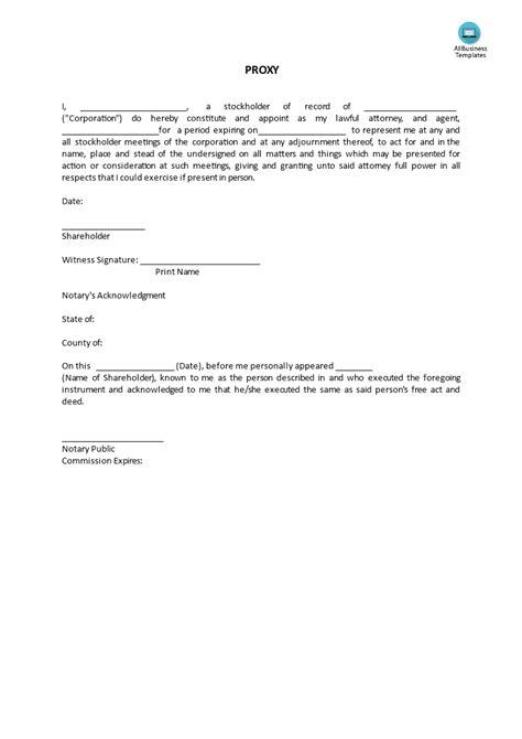 proxy template templates allbusinesstemplatescom