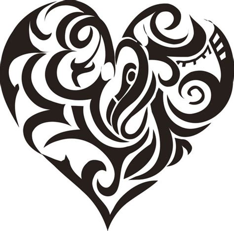 tribal pattern heart tribal symbol tattoos icky tattoo flash 03 by