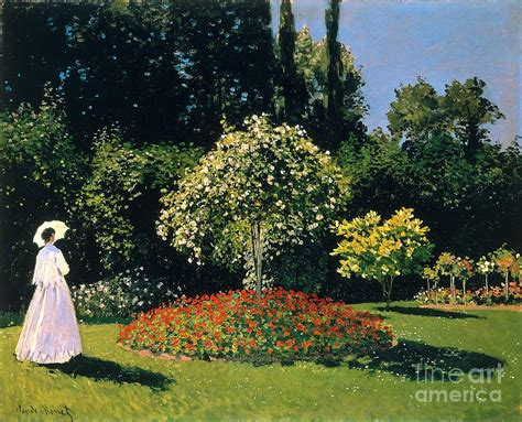 Monet In The Garden by In A Garden Painting By Claude Monet