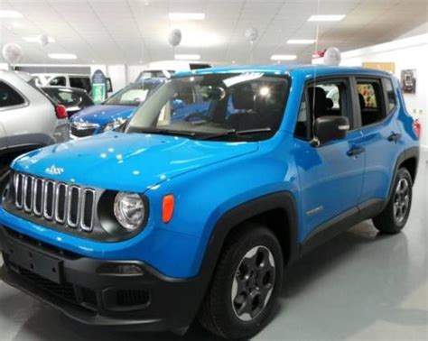 turquoise jeep renegade used 2015 15 reg blue jeep renegade renegade 1 6