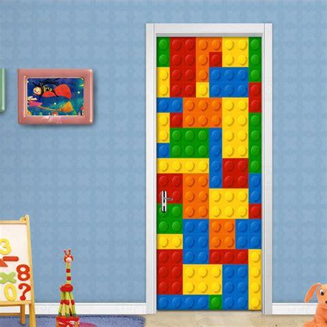 wall mural wallpaper kids room lego bricks children