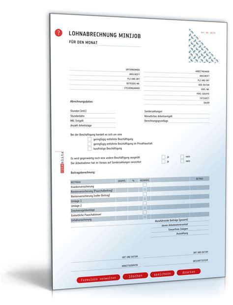 Muster Lohnabrechnung Schweiz Lohnabrechnung 450 Minijob 2017 Muster Zum