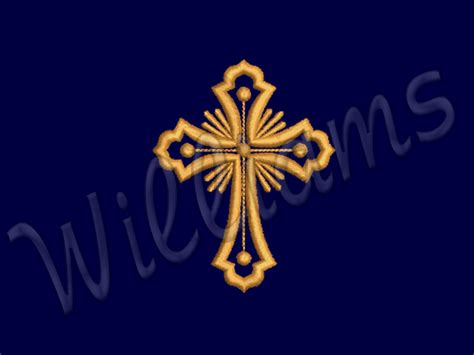 Embroidery Design Cross   quot cross quot machine embroidery design