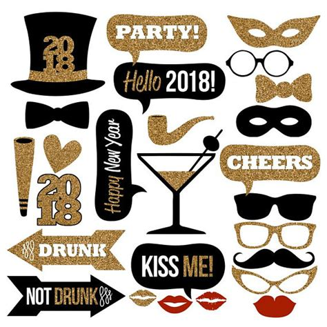 printable photo booth props new year 2018 2018 new year s eve photo booth props collectionprintable