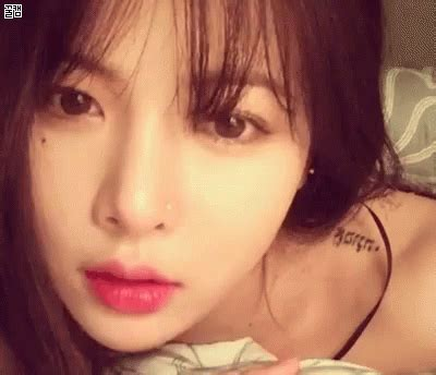 gif hyuna tattoo korean discover share gifs